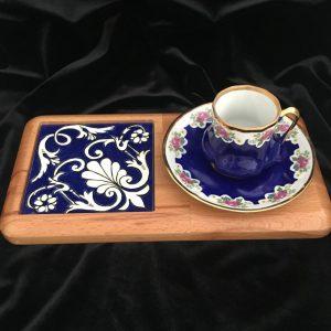 El Yapımı İznik Çini Özel Kahve Sunumluğu
