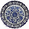 Rumi Desenli Mavi İznik Çini Tabak