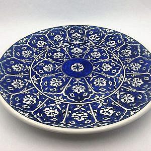 Baba Nakkaş Desenli Mavi Çini Tabak